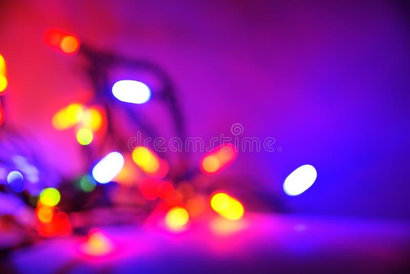Purple Christmas Light Background Royalty Free Stock Photos