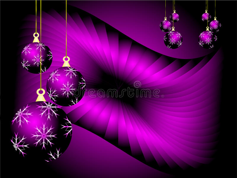Purple Christmas Vector Background Stock Image