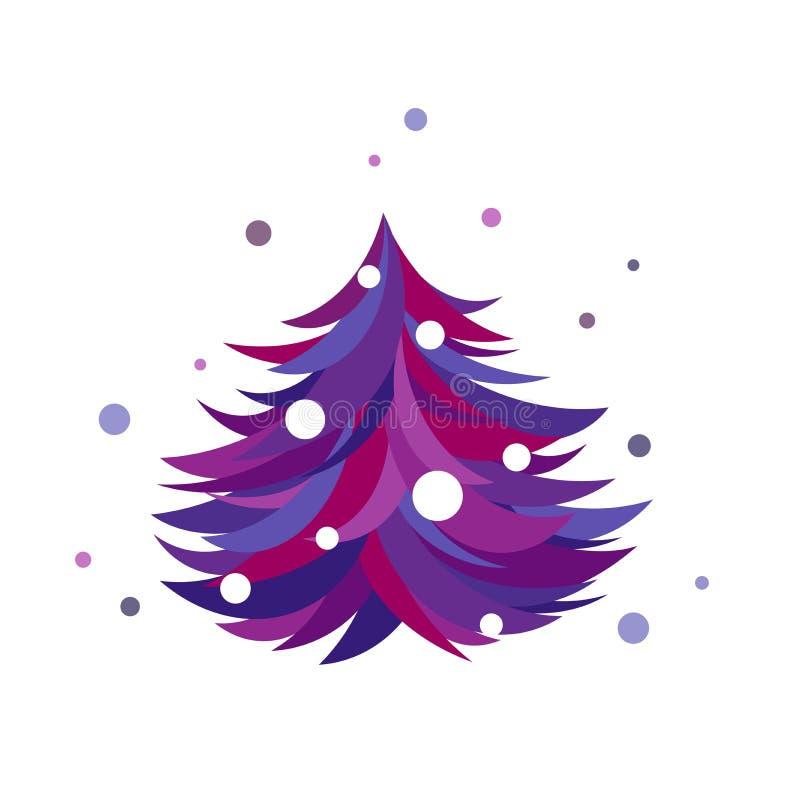 Big W White Christmas Tree: Crazy Christmas Tree Toy Cartoon Stock Illustration