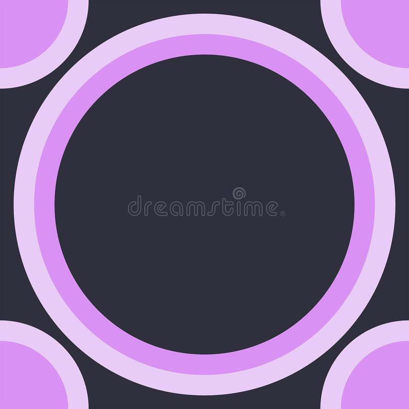 Purple circle as pattern for tiles stock illustration