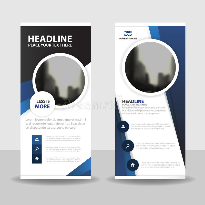 Purple circle roll up business brochure flyer banner design , cover presentation abstract geometric background, modern publication royalty free illustration