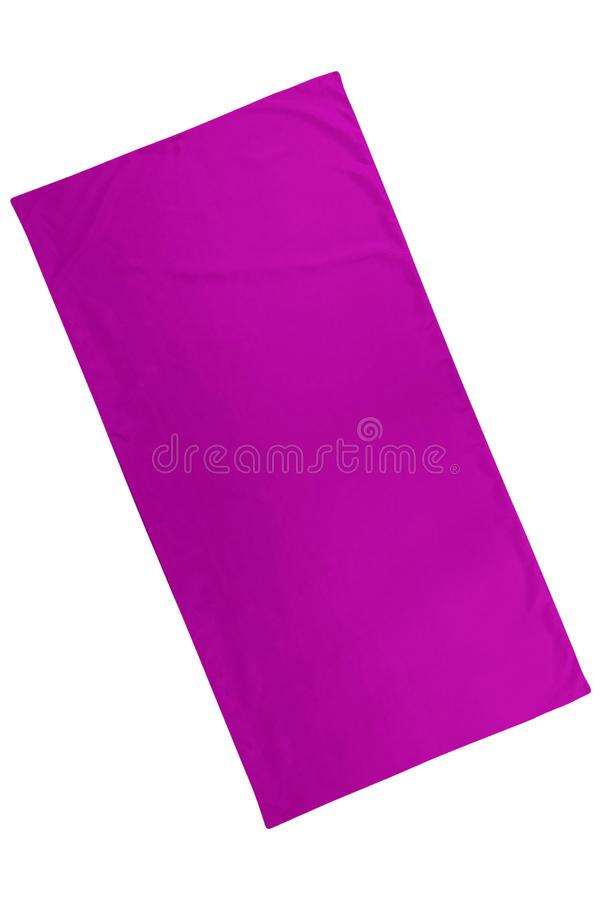 Purple cloth sheet isolated on white. Background royalty free stock photos