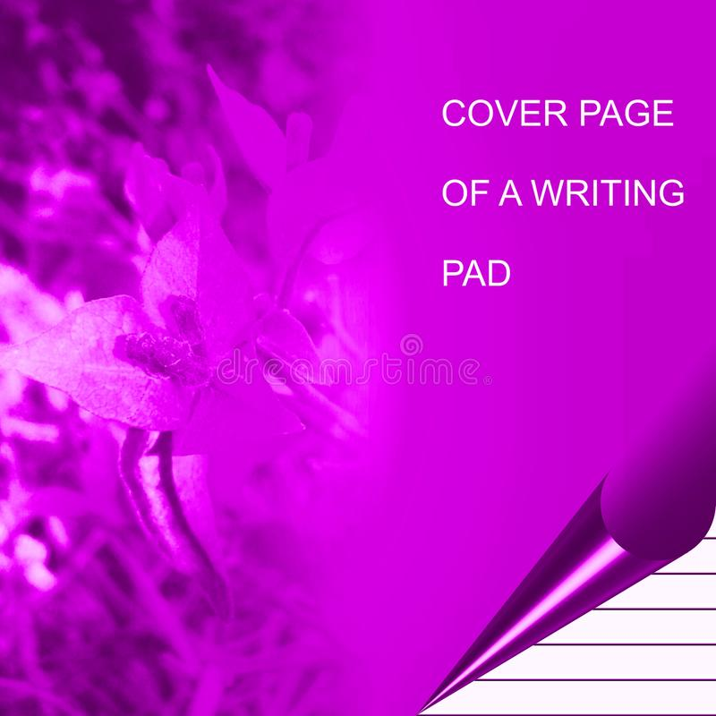 Purple color writing pad shaded with lighting effect computer generated background image and wallpaper design stock illustration