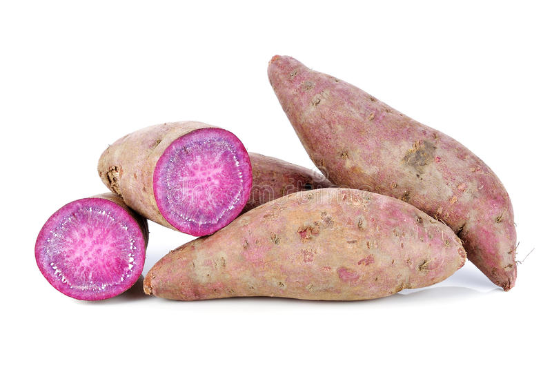 Purple Colored Sweet Potatoes royalty free stock photography