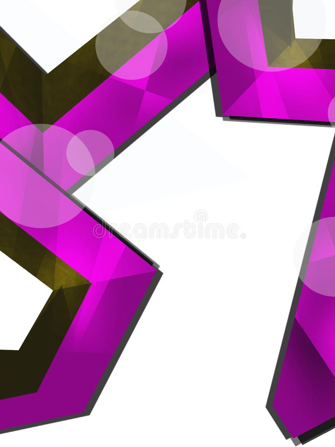 Purple corners overlap abstract background. Vertical creative background royalty free illustration