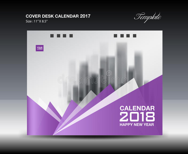 Cover Calendar Design Vector : Purple cover desk calendar design polygon background
