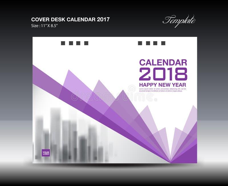 Cover Calendar Design Vector : Purple cover desk calendar design polygon background