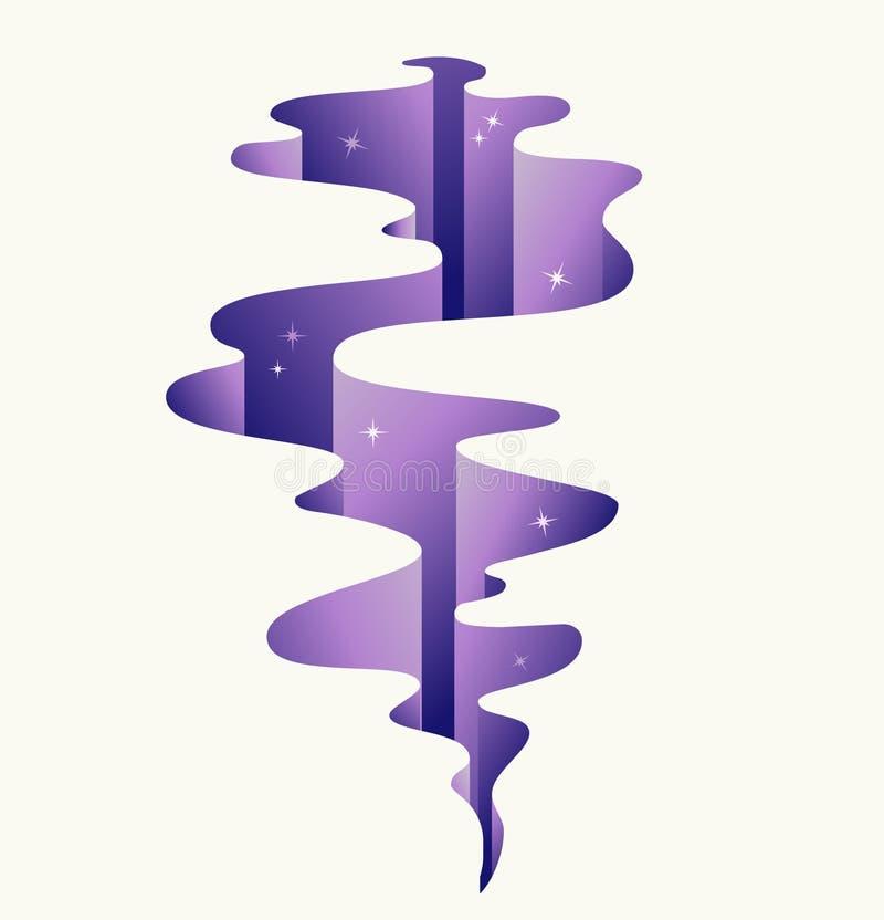 Purple Crack Stock Image