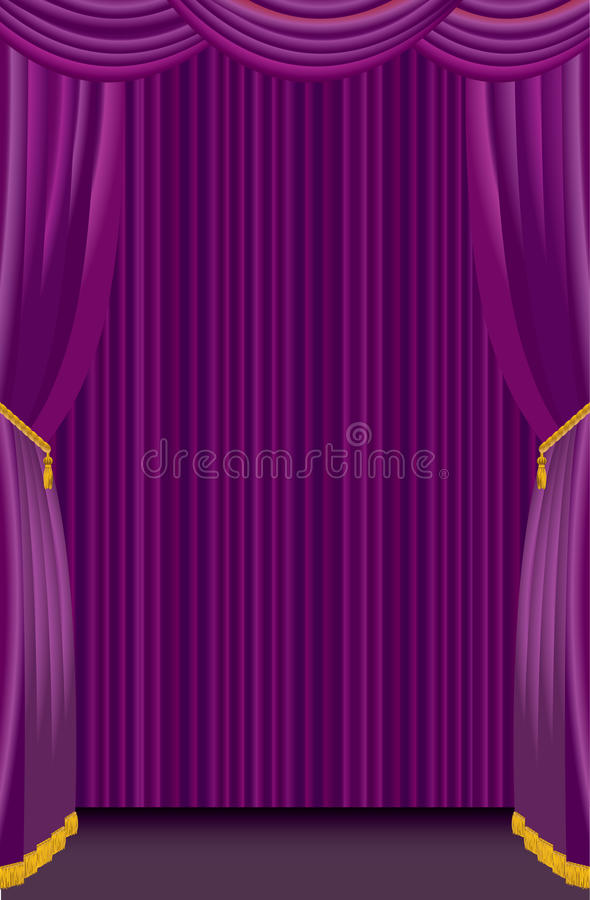 Download Purple Curtain Royalty Free Stock Photography - Image: 14425787