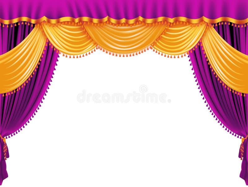 Purple curtain. Illustration isolated on white royalty free illustration
