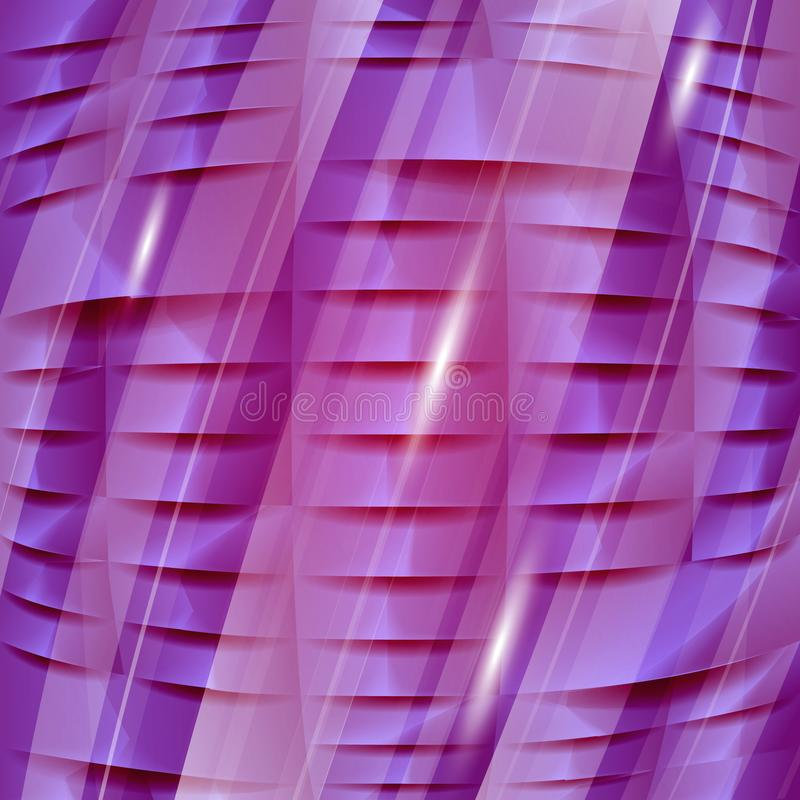 Purple 3D geometric texture. Vector background can be used in cover design, book design. stock images