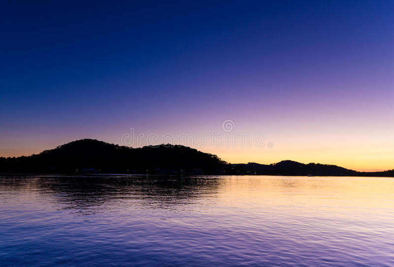 Download Purple Daybreak At The Waterfront Stock Photo - Image: 92424486