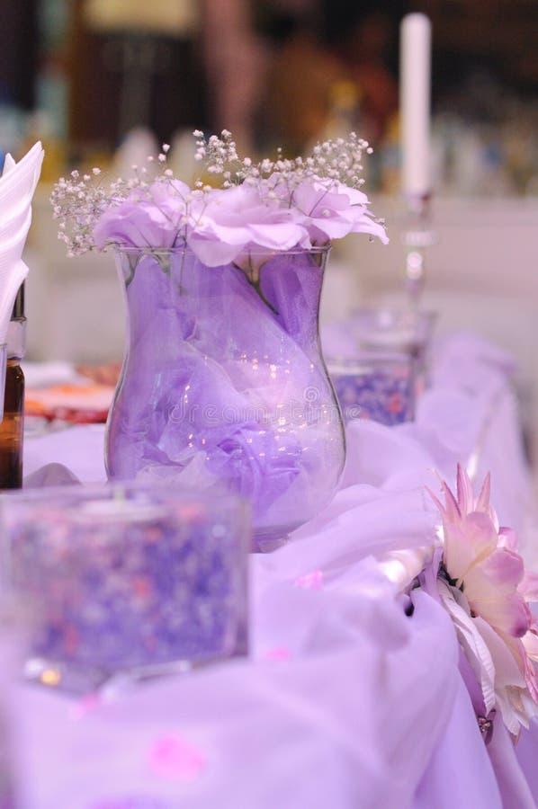 Purple decoration on wedding royalty free stock photo