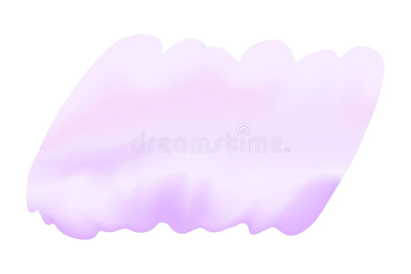Purple digital paint brushs in concept hand drawn style water color texture on white background, art water color purple painting vector illustration