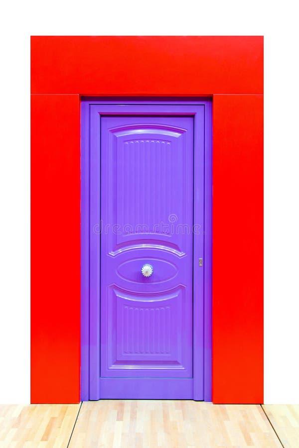 Purple door stock images