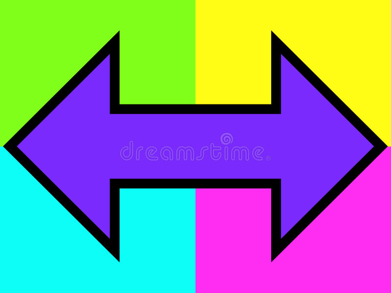 Download Purple double arrow stock illustration. Image of communication - 178933