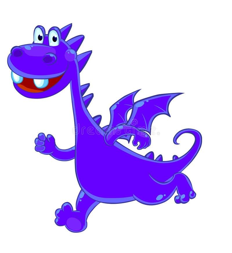Purple dragon vector illustration