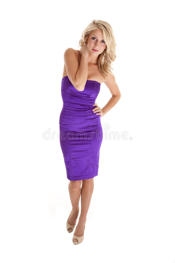 Download Purple dress white stock photo. Image of attractive, high - 18728832