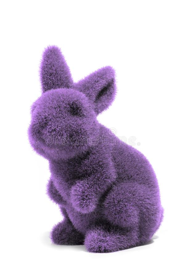 Purple easter bunny royalty free stock photography