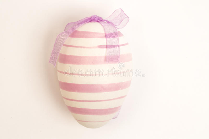 Purple Easter Egg With Ribbon Royalty Free Stock Photography