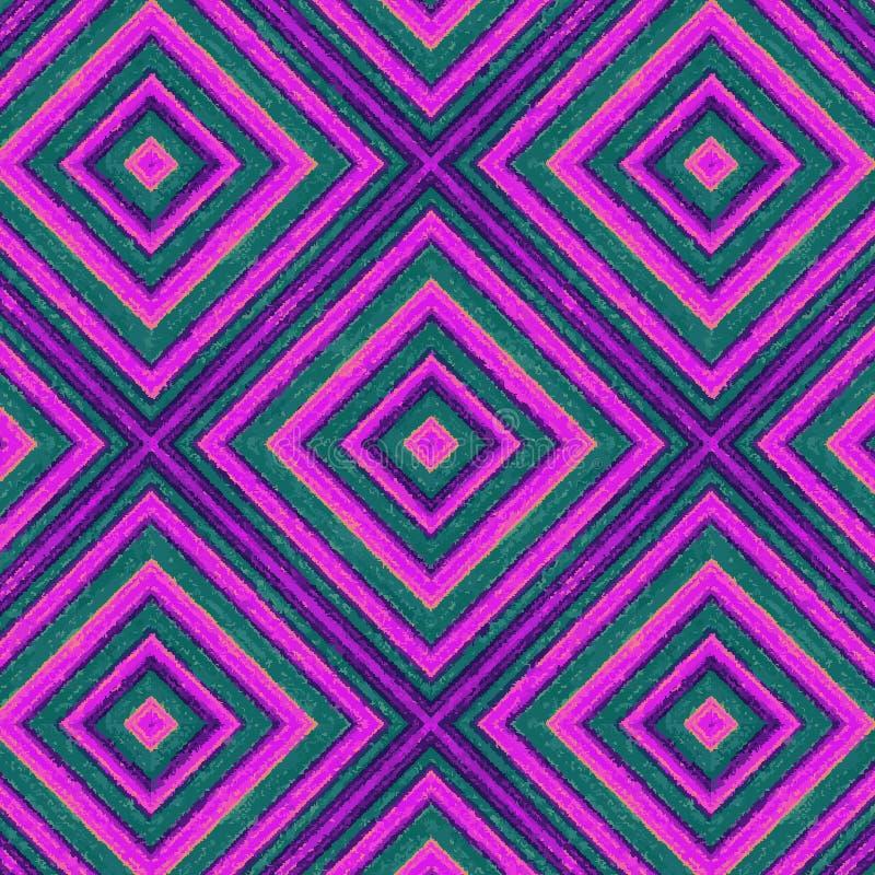 Purple en viooltje geschilderde ruiten in een naadloos patroon vector illustratie