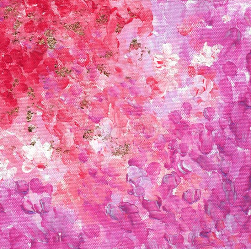 Purple et rose avec motif de jardin pétale doré Concept féminin photo libre de droits
