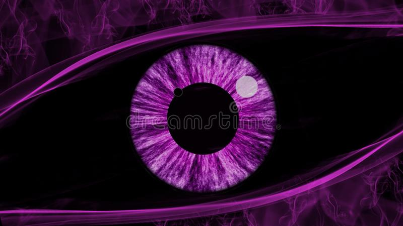 Purple eye abstract vector illustration