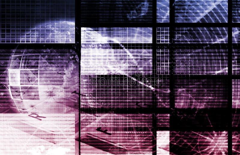 purple för digitalt nätverk royaltyfri illustrationer