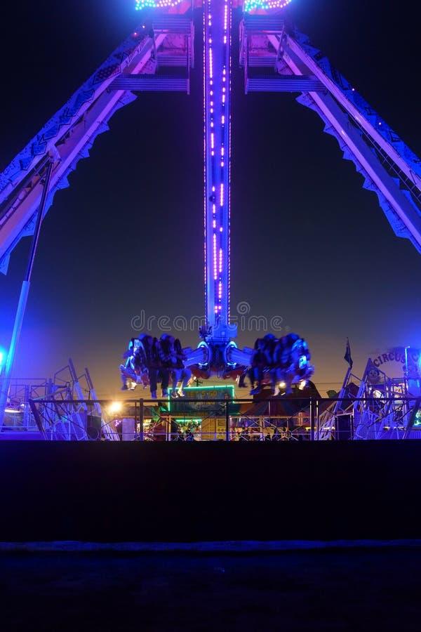 Free Purple Fair Ground Ride Stock Photo - 112230920
