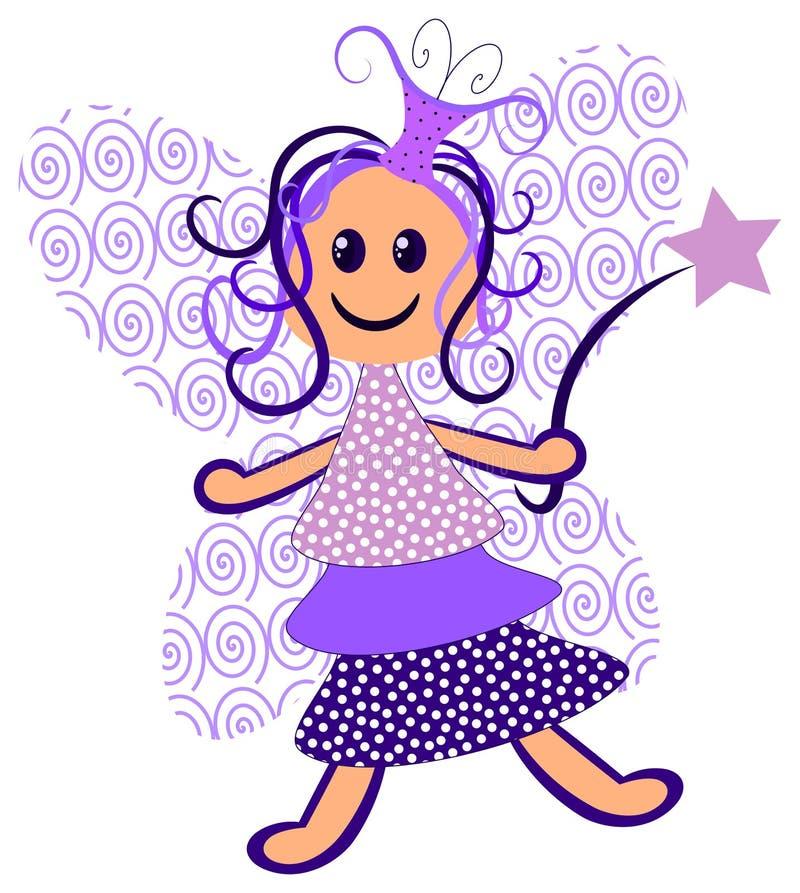 Purple Fairy vector illustration
