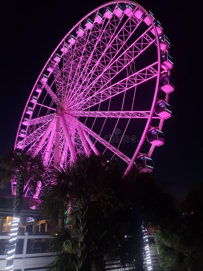 Purple Ferris wheel stock photo