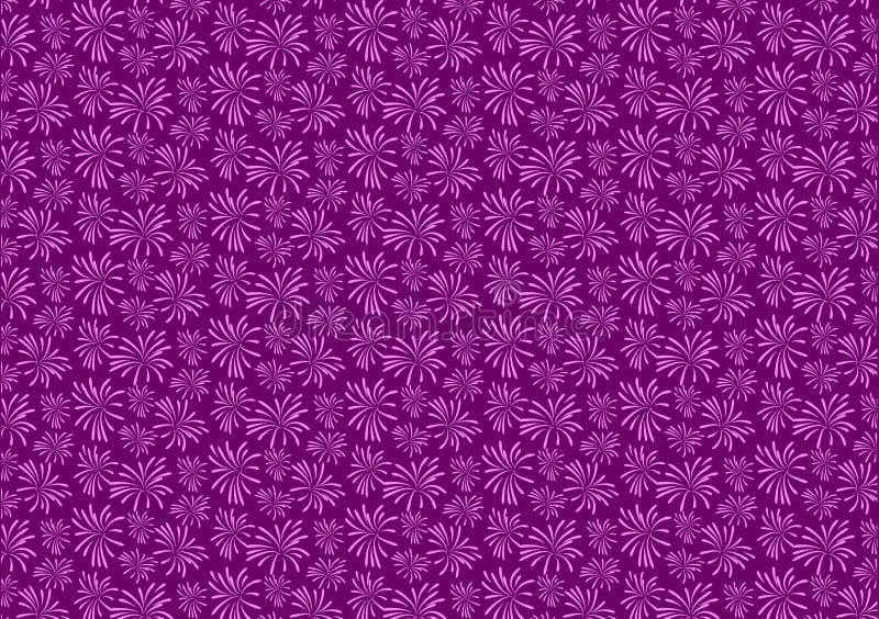 Purple firework blast pattern design wallpaper stock illustration