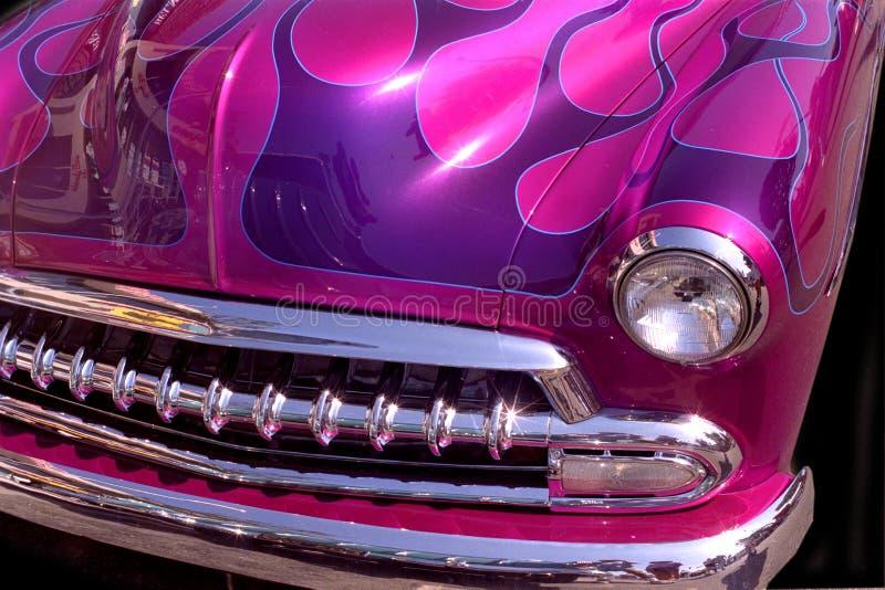 Download Purple Flames stock photo. Image of chrome, bumper, hood - 79056