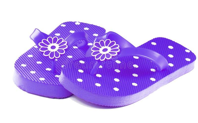 Purple Flip Flops stock photos
