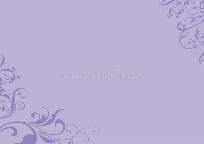 Purple floral background. Purple background with floral design in opposite corners vector illustration