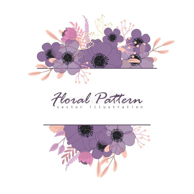 Free Purple Floral Background - Flower Border Stock Photo - 168604890