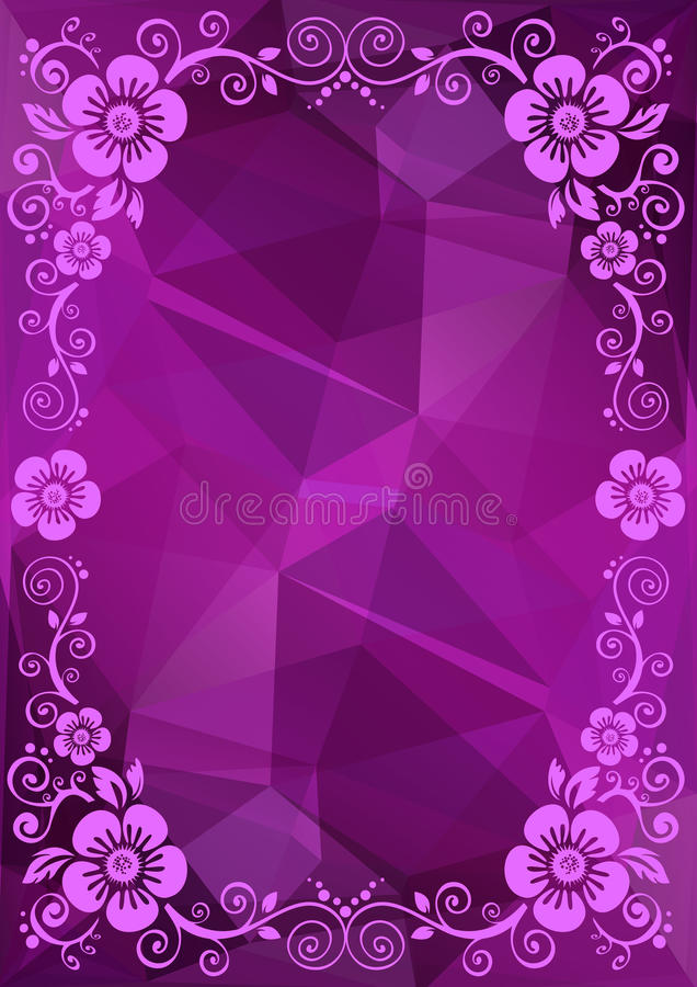 Free Purple Floral Border Stock Photography - 62346392