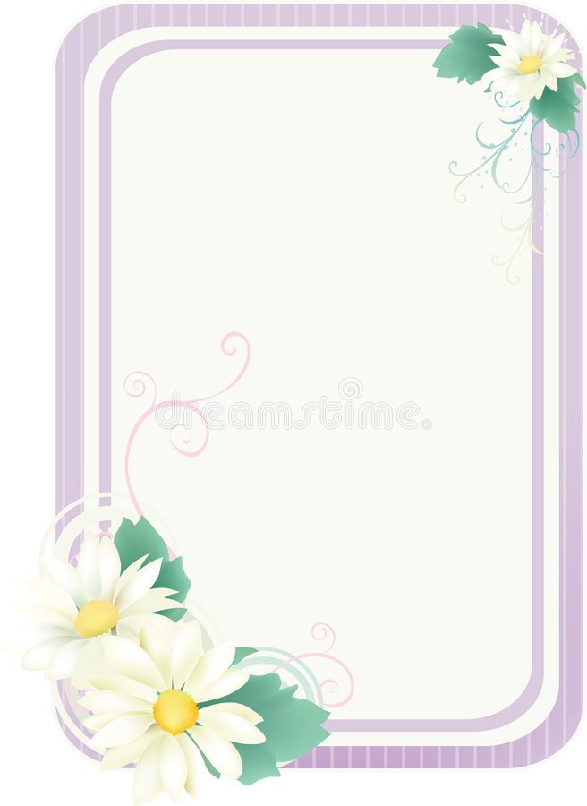 Purple floral frame. A purple, illustrated frame or border with a pretty floral design