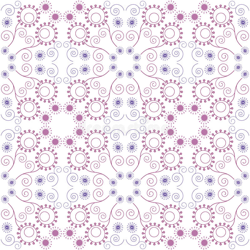 Download Purple Floral Seamless Pattern Stock Vector - Image: 32289295