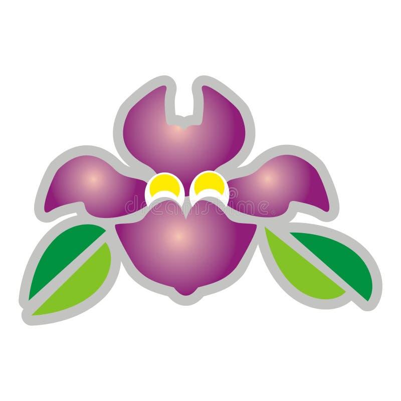 Download Purple flower stock vector. Image of cartoon, nature, color - 2322522