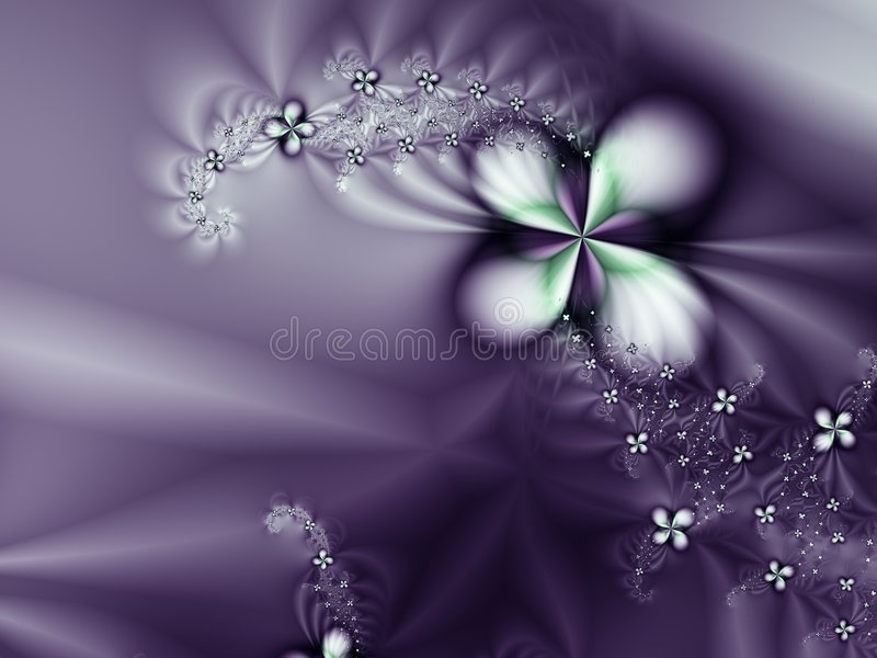 Purple Flower and diamonds Romantic Background vector illustration