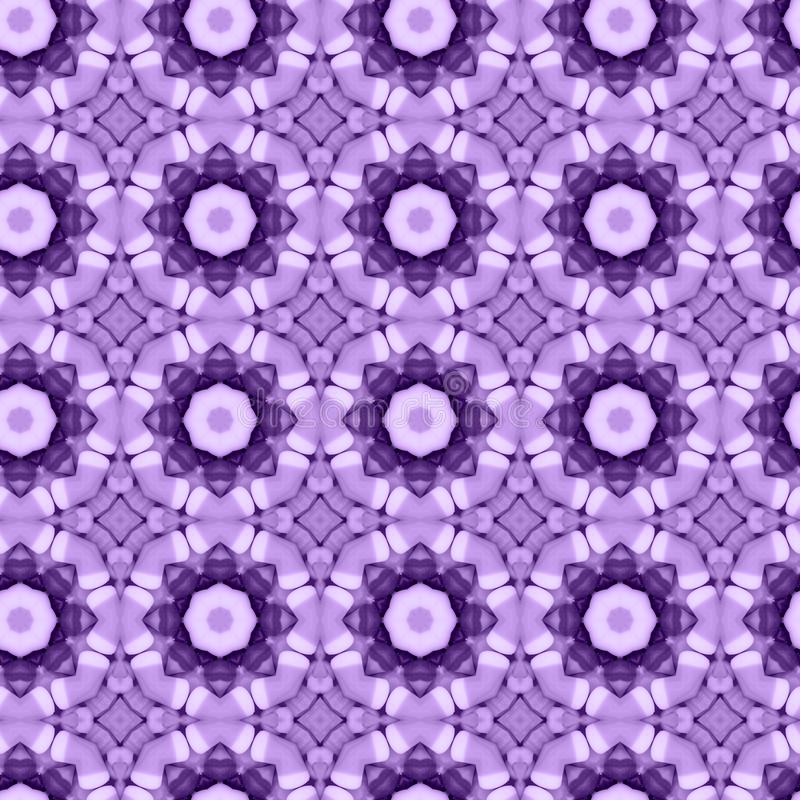 Purple flower mosaic detailed seamless textured pattern background. Purple flower mosaic detailed seamless and repeat textured pattern background royalty free illustration