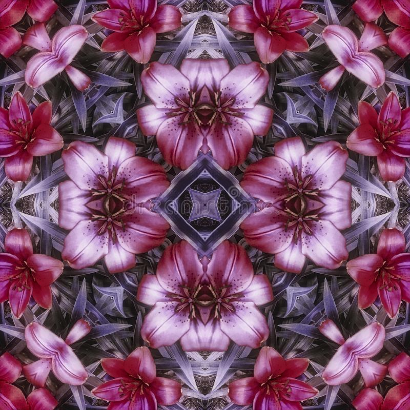 Purple flower tile stock image