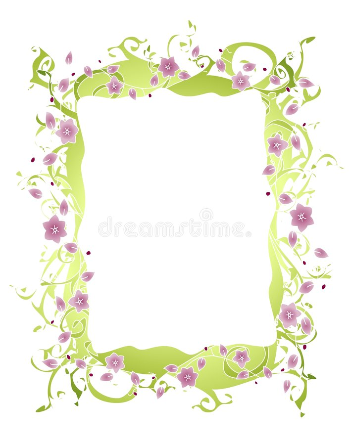 Purple Flower Vine Border Royalty Free Stock Photography