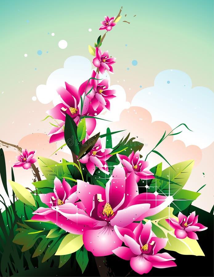 Download Purple Flowers Vector Illustration Stock Vector - Illustration: 12655435