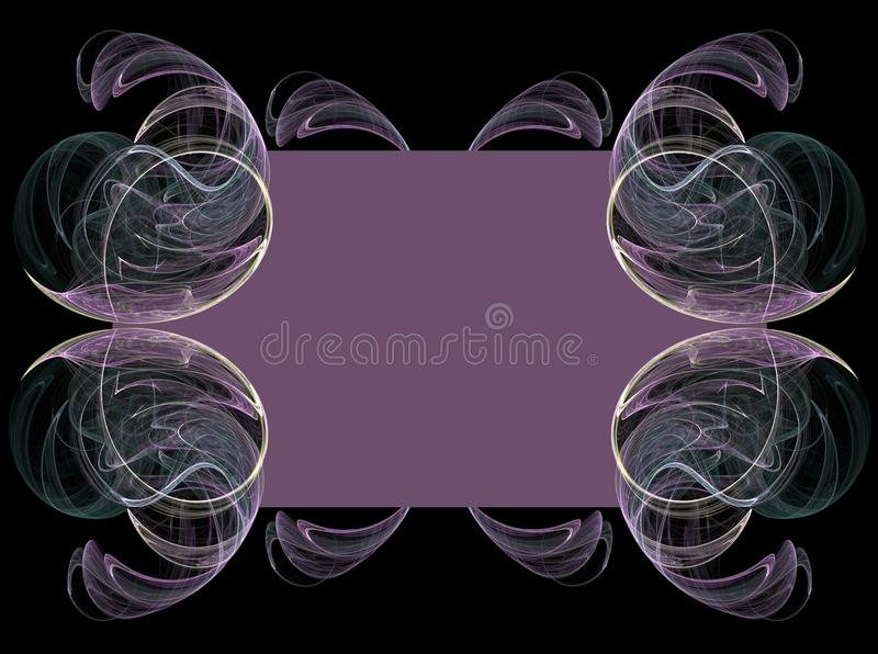 Purple Fractal Background stock images