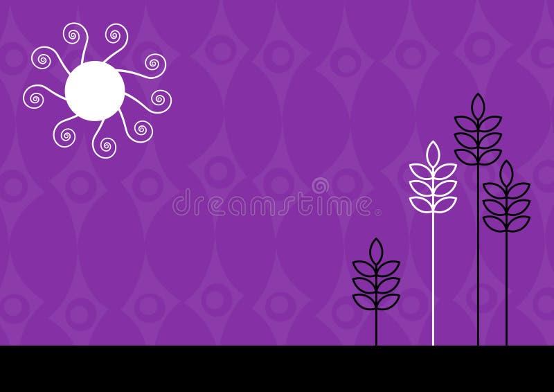 Purple funky illustration. Vector art stock illustration