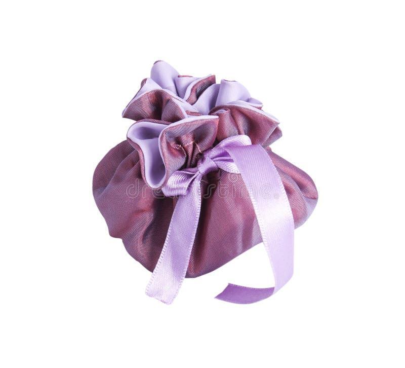 Purple gift bag stock photo