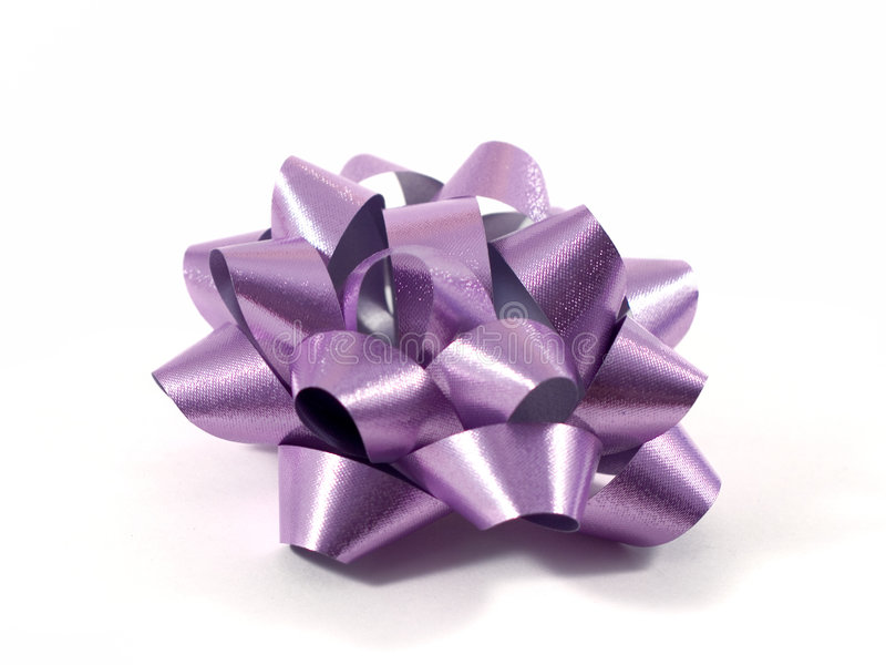 Purple Gift Bow stock image