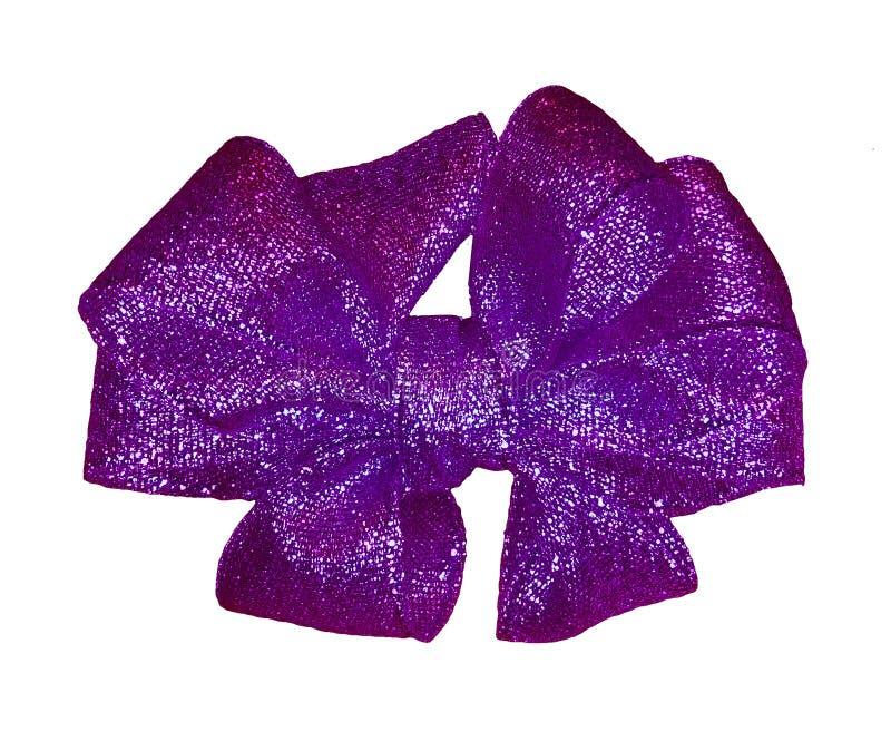 Purple gift bow stock photo
